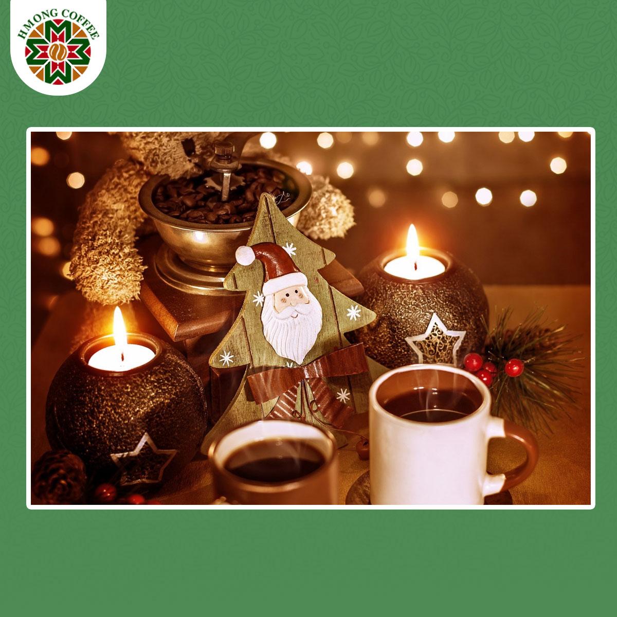 Pha một hương vị cà phê ngon đúng điệu chào đón Giáng Sinh