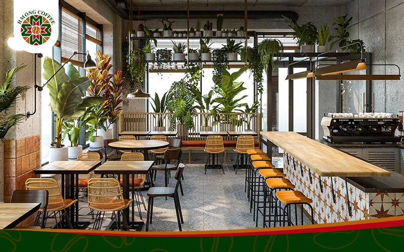 Không gian đẹp thư giãn cùng quán cafe rang xay